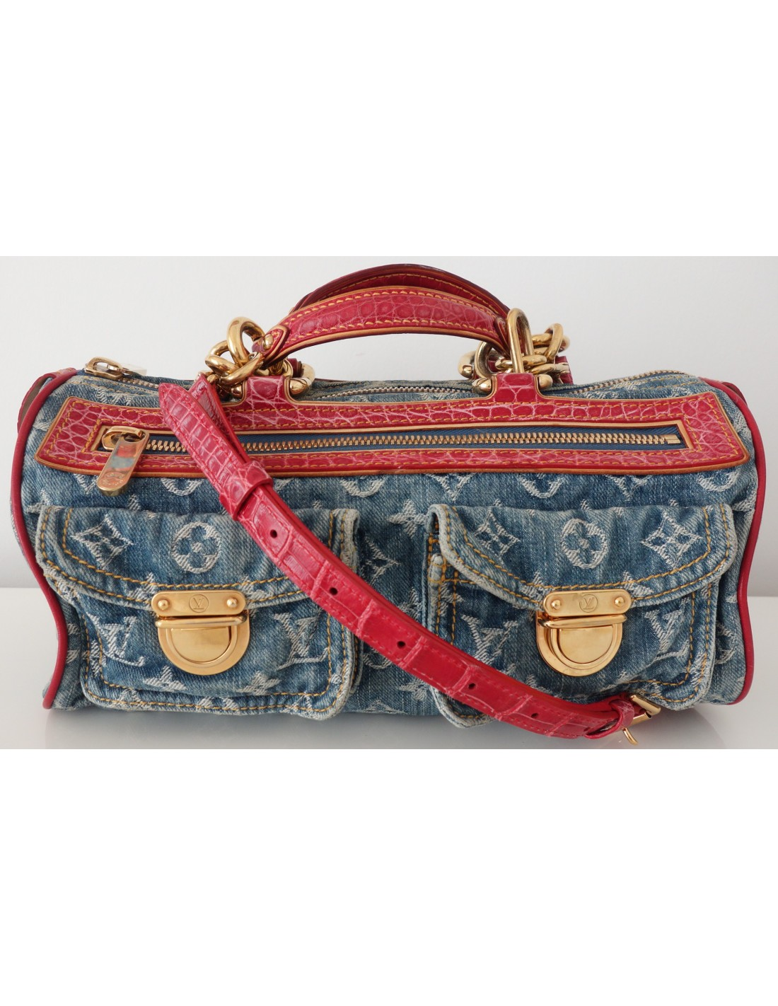 SAC NEO SPEEDY VUITTON JEAN ET CROCODILE - Atoutluxe Boutique 3468421aa42