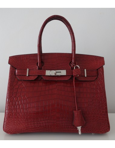 100% genuine check out fashion SAC HERMES BIRKIN CROCODILE 30 - Atoutluxe Boutique