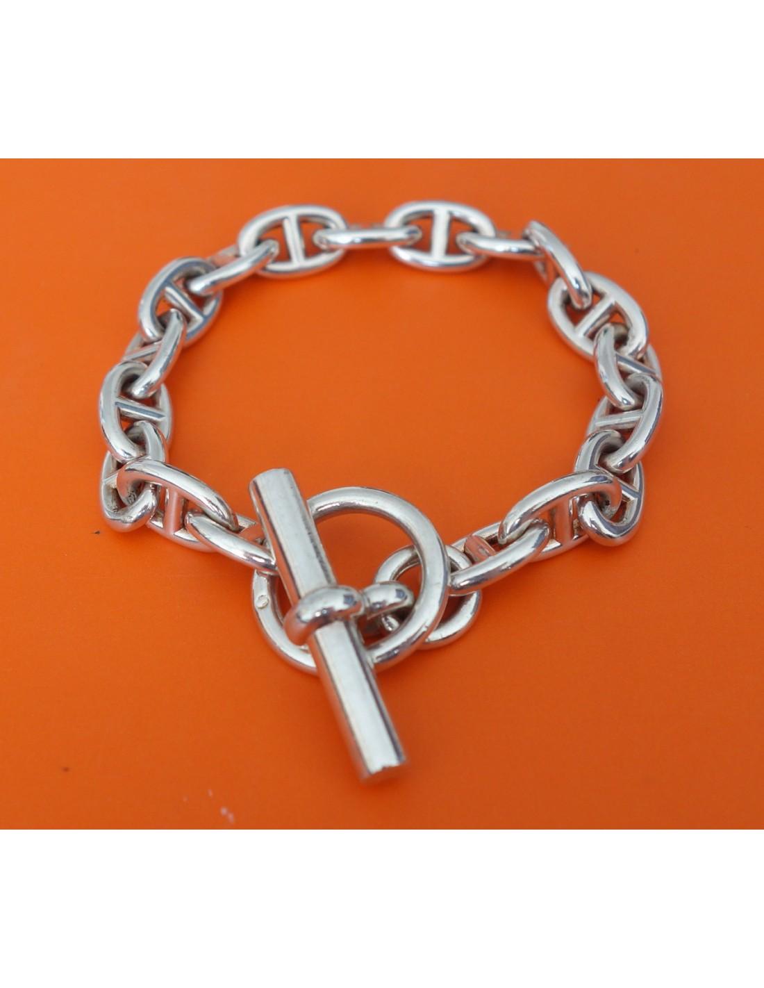 official store hermès bracelet sur cordon en laiton argenté chaîne dancre  55e49 6b30c  purchase bracelet chaine dancre hermes pm 8bb35 61069 2c92bf46f3c
