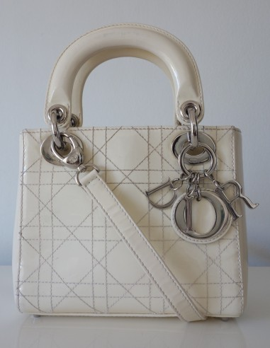 SAC LADY DIOR IVOIRE PM