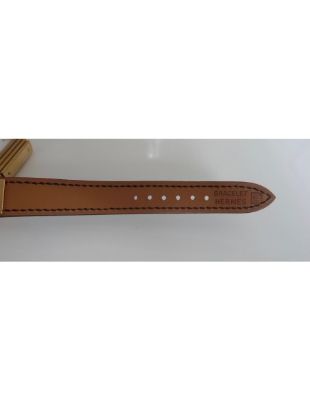 MONTRE HERMES KELLY PLAQUE OR