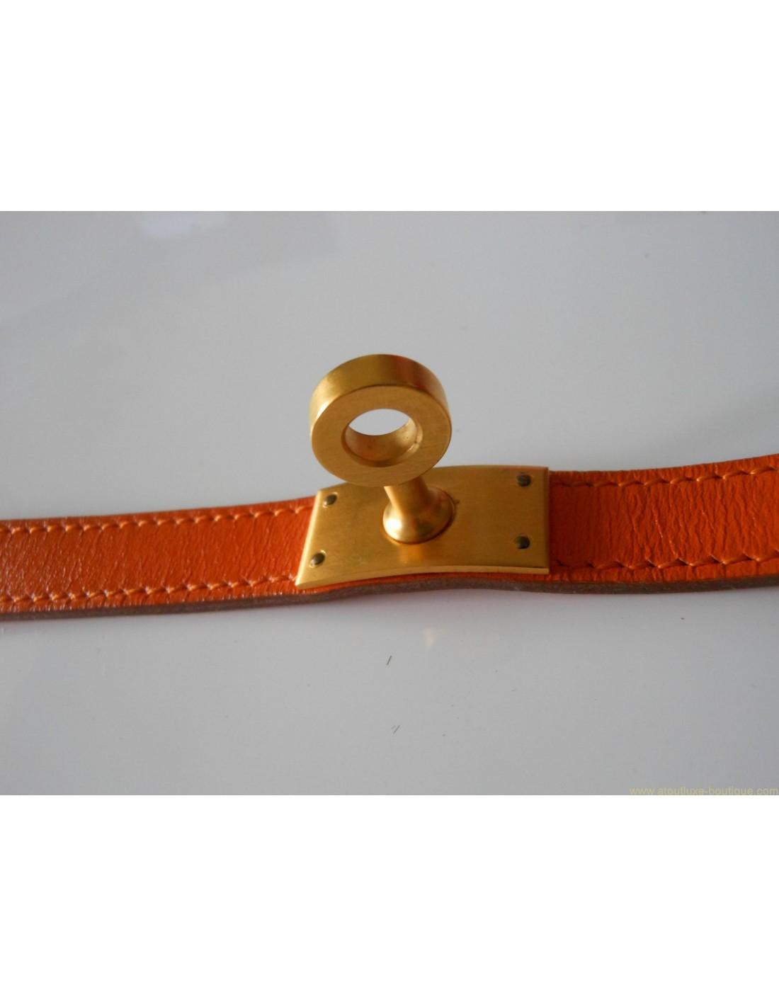 bracelet hermes cuir orange. Black Bedroom Furniture Sets. Home Design Ideas