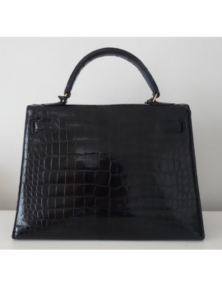 SAC HERMES KELLY CROCODILE 32