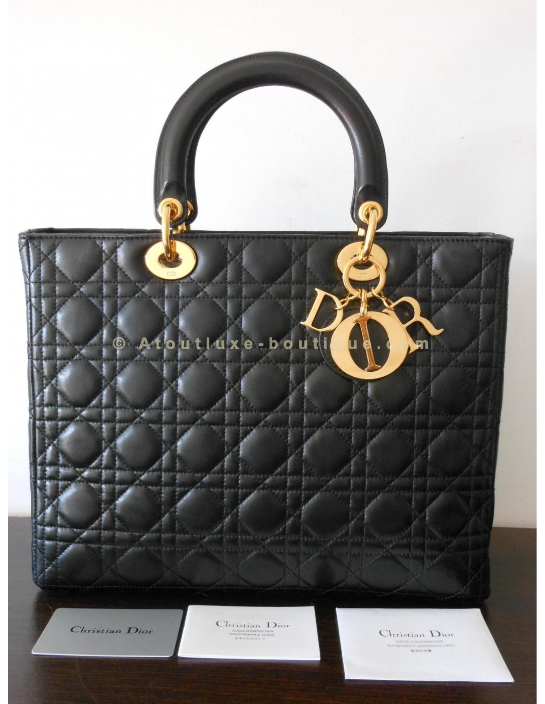 1b147f8c67d ... sac lady dior noir grand modele