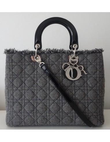 SAC LADY DIOR GRIS GM