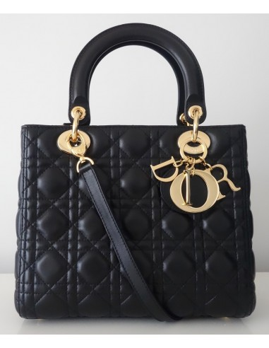 SAC LADY DIOR NOIR MEDIUM