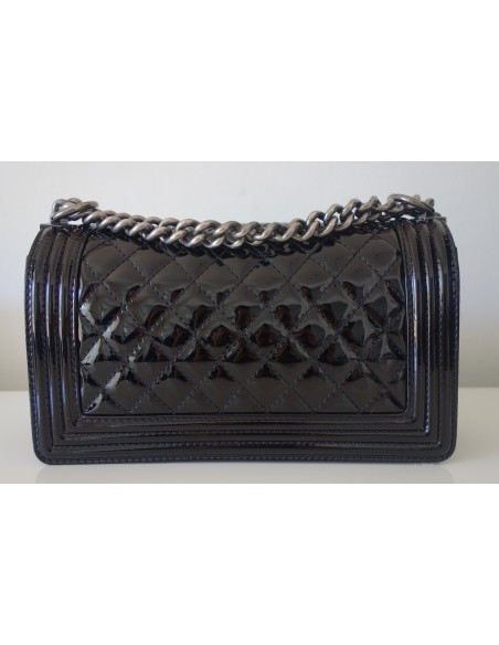 SAC CHANEL BOY VERNI NOIR