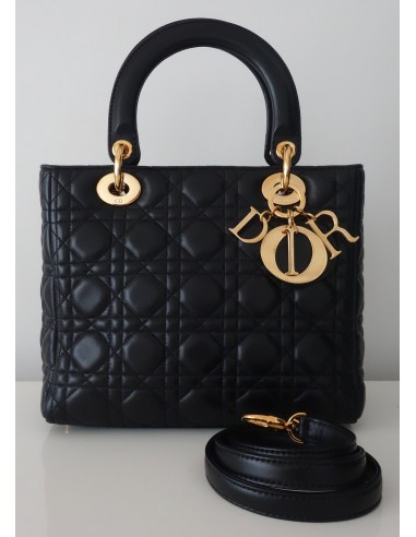 SAC LADY DIOR MEDIUM NOIR