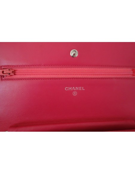 WALLET ON CHAIN CHANEL ROSE