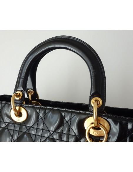 SAC LADY DIOR GRAND MODELE NOIR
