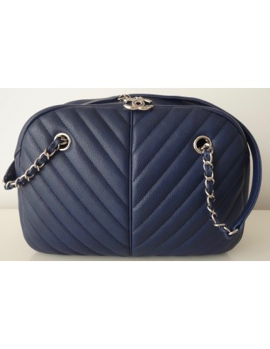 SAC CHANEL BOWLING CHEVRON