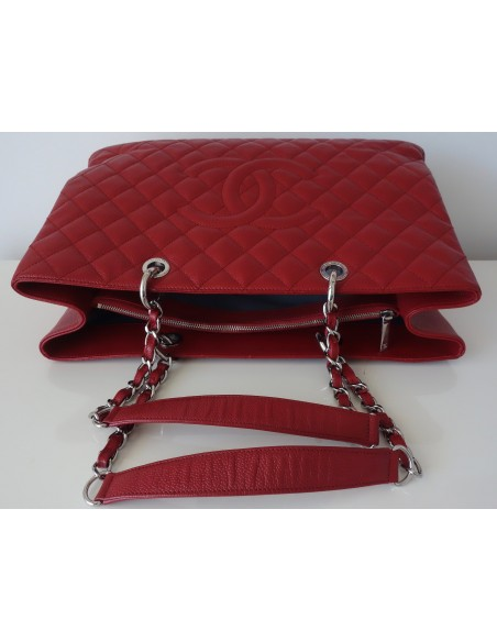 SAC CHANEL SHOPPING GST ROUGE