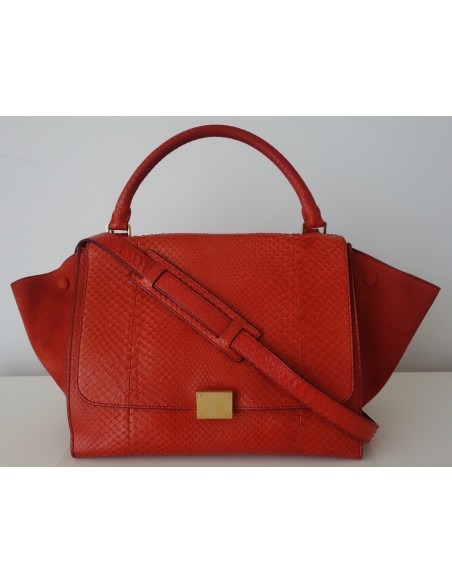 SAC CELINE TRAPEZE PYTHON ORANGE
