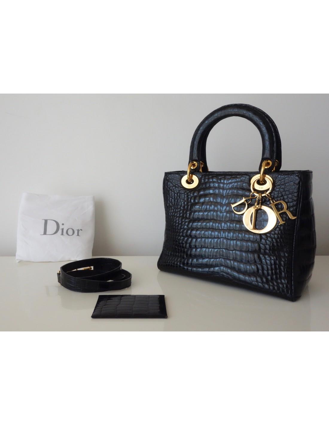 Sac Atoutluxe Boutique Noir Dior Crocodile Lady qXr06Iqp 57dcaee17816