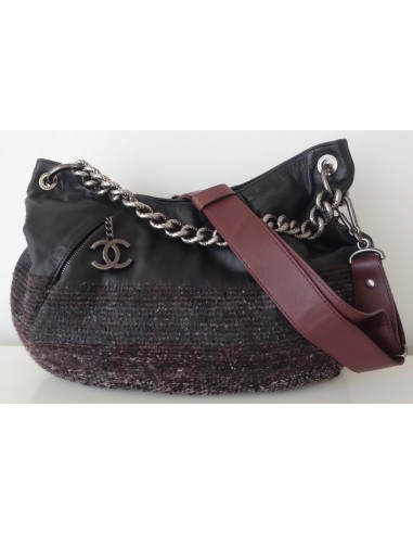SAC CHANEL GM CUIR ET TWEED
