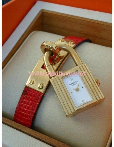433e1cbd4caf ... usa montre hermes kelly bracelet lezard rouge 2b04a b1896 ...