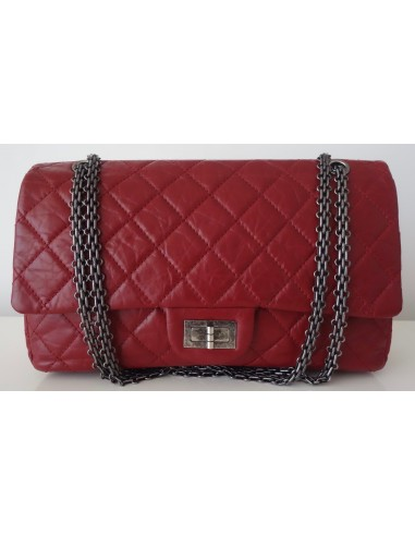 SAC CHANEL 2.55 JUMBO ROUGE