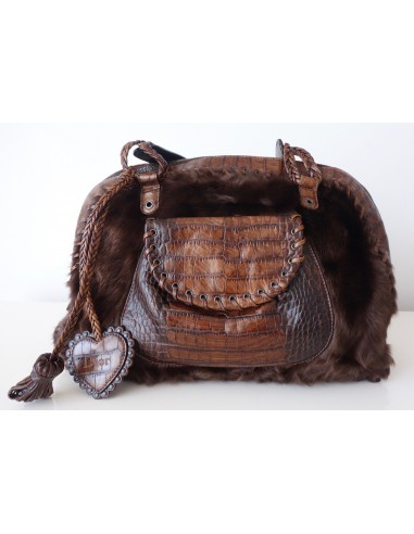 SAC DIOR ETHNIC CROCODILE