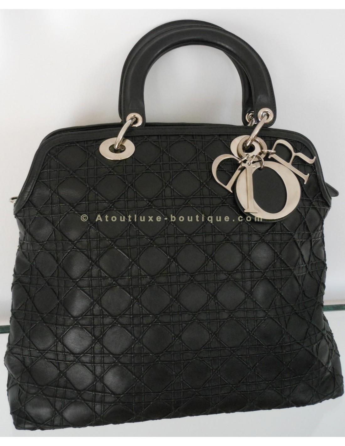 49000b371333cf SAC DIOR GRANVILLE NOIR - Atoutluxe Boutique