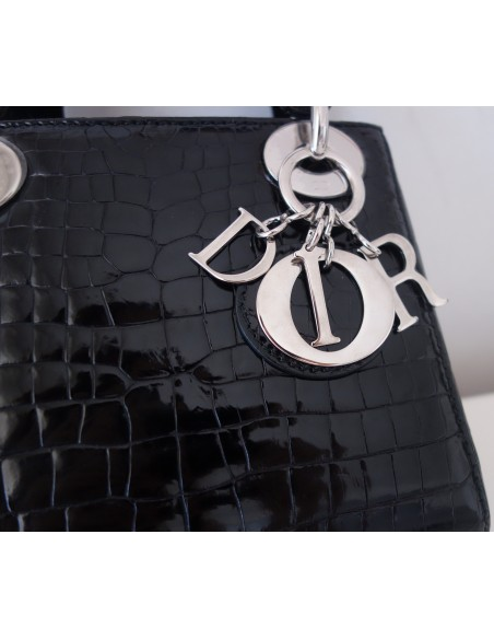 SAC MINI LADY DIOR ALLIGATOR
