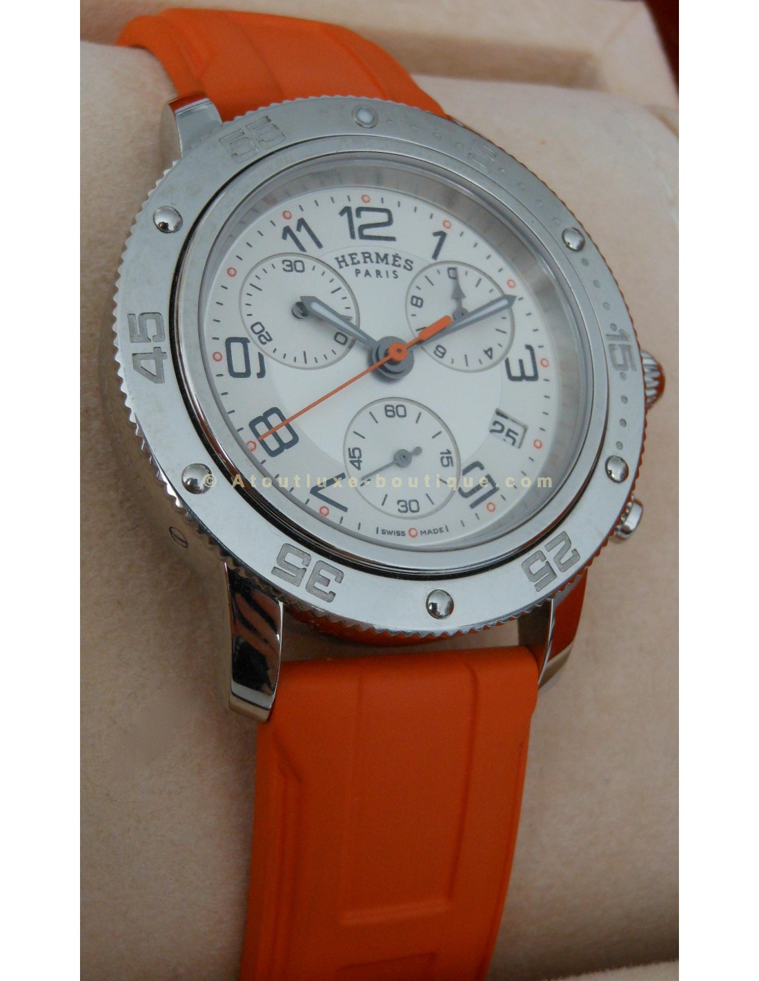MONTRE HERMES CLIPPER PLONGEE CHRONO GM - Atoutluxe Boutique 7d457e4d690