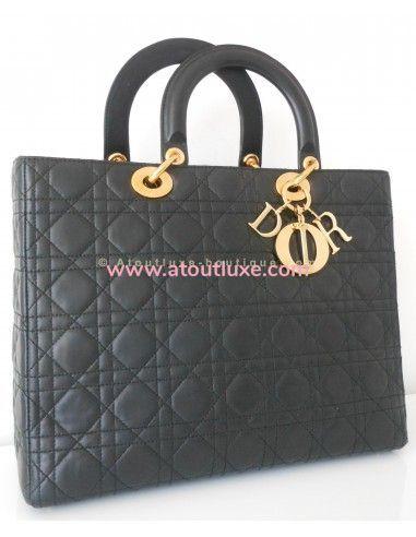 5719022b24c SAC LADY DIOR GRAND MODELE NOIR - Atoutluxe Boutique