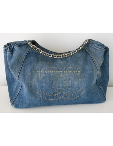 Sac chanel cabas en jean xl atoutluxe boutique for Sac chanel interieur