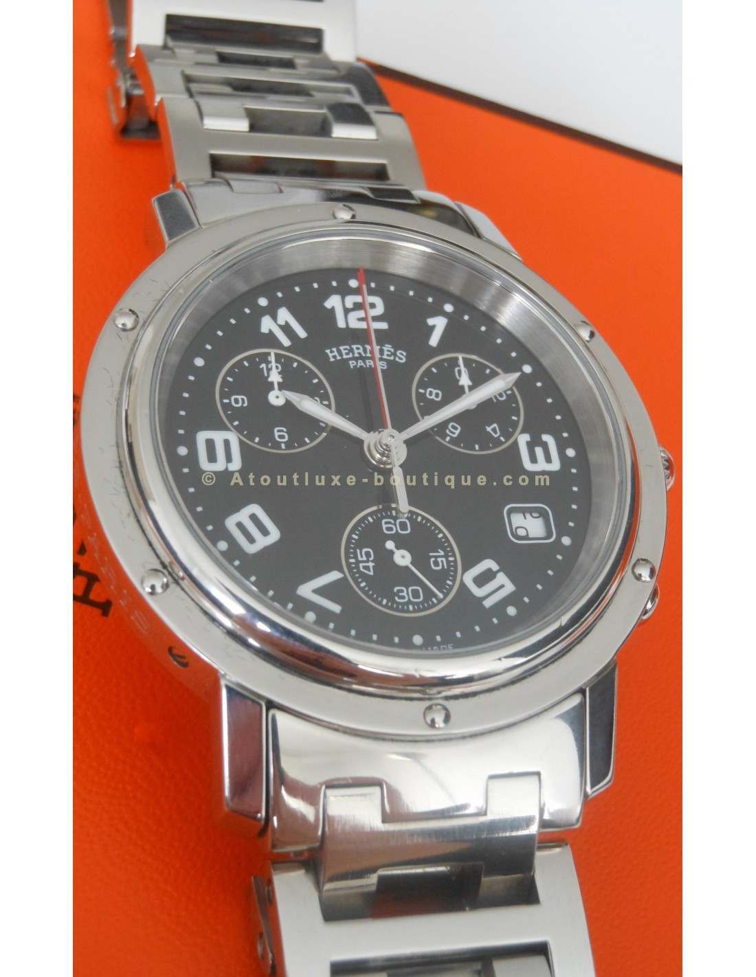 8893bdef5e MONTRE HERMES CLIPPER CHRONO HOMME - Atoutluxe Boutique