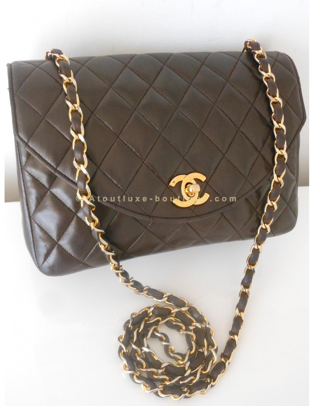 4ea045e9202 SAC CHANEL TIMELESS MARRON VINTAGE - Atoutluxe Boutique