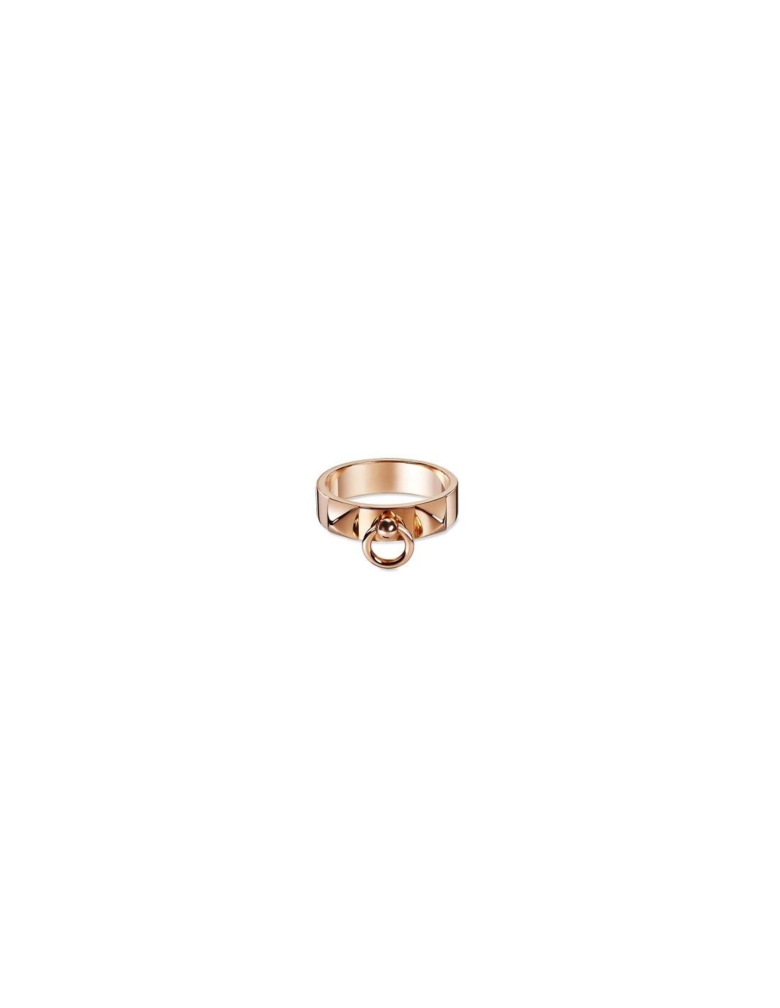 c4eec91f5361 BAGUE HERMES COLLIER DE CHIEN OR ROSE - Atoutluxe Boutique