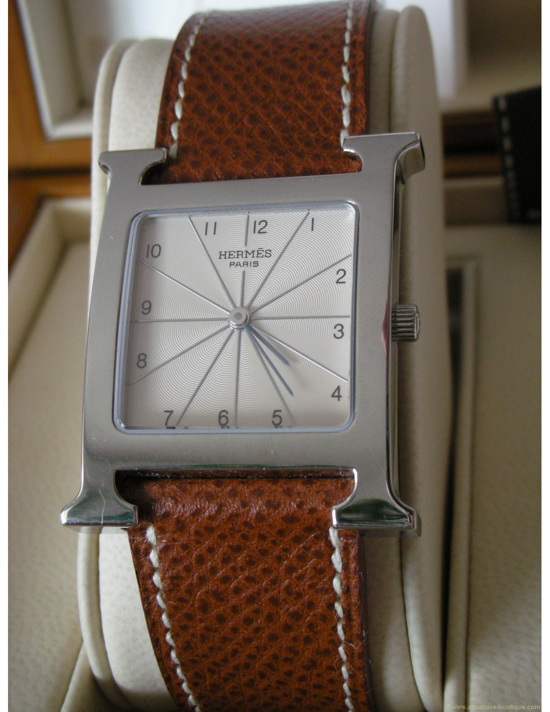 ad5fa784fdb MONTRE HERMES H-OUR GM BRACELET FAUVE - Atoutluxe Boutique