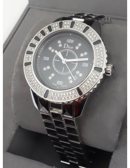 MONTRE DIOR CHRISTAL 33MM DIAMANTS