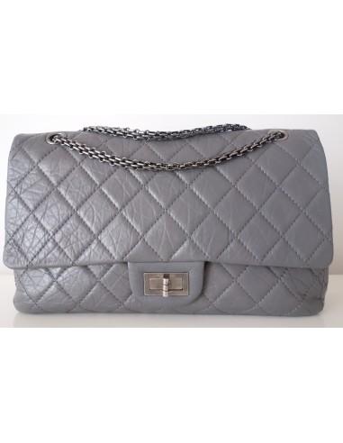 Sac Chanel 2.55 Maxi gris