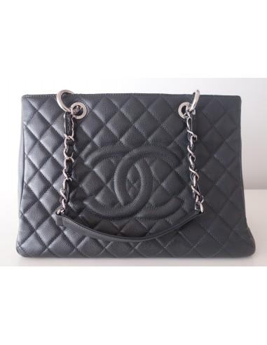 Sac Chanel shopping gris