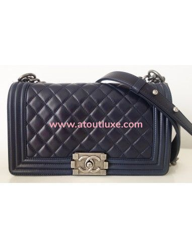 Sac Chanel Boy bleu marine