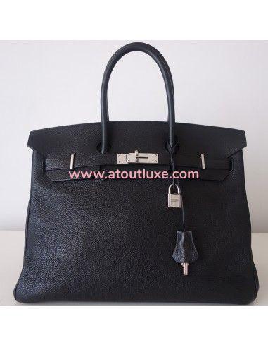 Sac Hermes Birkin 35 noir