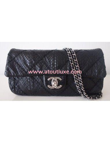 Sac Chanel Classique python noir
