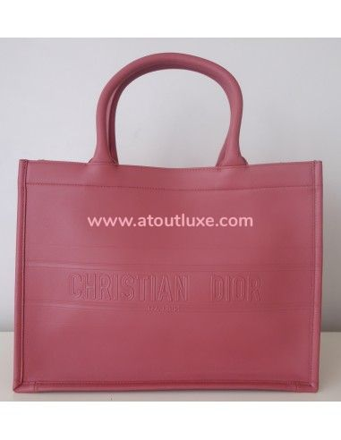 Sac Dior Book Tote rose