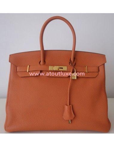 Sac Hermes Birkin 35 orange
